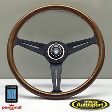 Nardi Steering Wheel ND CLASSIC WOOD Grain Black Spokes 360mm 5061.36.2000