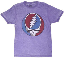 Grateful Dead Tee Shirt Logo Music Rock Purple Acid Faded Authentic Mens Small