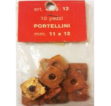 PORTELLINI IN METALLO 10 PZ 11X12 mm ACCESSORI MODELLISMO NAVALE AMATI 4938/12