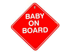 MAX GREY BABY ON BOARD CAR WINDOW SIGN RED