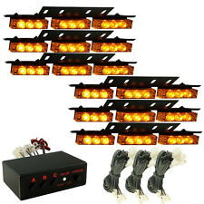 Zone Tech 54 LED Emergency Car Strobe Light Bars Warning Deck Dash Grille Amber