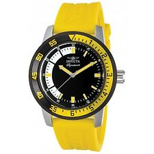 New Invicta Signature II Black and Yellow Rubber Strap Mens Watch 7467