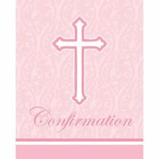 **RELIGIOUS** 8 Faith Classic Pink Confirmation Invitations & Envelopes!