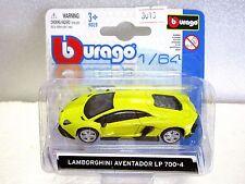 BURAGO Diecast car LAMBORGHINI AVENTADOR LP 700-4 NEW on card 1:64