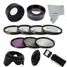 58MM 3 LENSES& Filter Set + Accessories for CANON EOS REBEL T3 T4 T5 T3I T4I X1