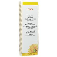 GiGi Natural Muslin Epilating Strips Large for All Soft Waxes 100 ea