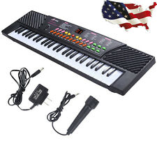 54 Keys Music Electronic Keyboard Electric Piano Organ W/Mic and Adapter New