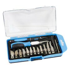 18 PC PRECISION KNIFE SET RAZOR BLADE CUTTING TOOL ARTS & CRAFT HOBBY KIT