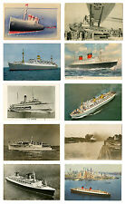Cruise Ships & Pan Am Clipper Ship Airplane Postcards Vintage Lot of 10