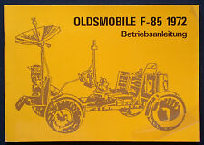 Owner's Manual * Betriebsanleitung 1972 Oldsmobile F-85   (D)
