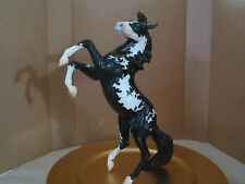 "Custom Breyer Traditional Horse Black Overo Pinto ""Silver"""