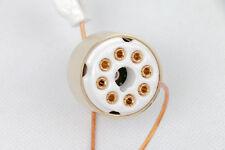 1pc Gold plated 6F8G/6C8G TO ECC82 12AU7 ECC83 12AX7 tube Converter adapter 6.3V