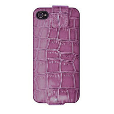 POWER iJackit Luxe RICARICA Case Cover Shell per iPhone 4/4s-ROSA coccodrillo