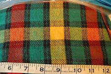 VINTAGE brushed 100% cotton plaid tartan check FABRIC 150cm drop PER METRE