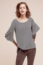 NWT NEW SUNDAY IN BROOKLYN ~ L Large ANTHROPOLOGIE Delsea Black White Knit Top
