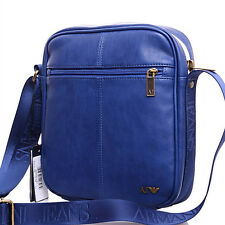 Armani Jeans Men's Cross-Body Messenger Shoulder Bag AM21E-U1-P8 Blue