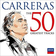 Jose Carreras-The 50 Greatest tracks 2 CD NUOVO