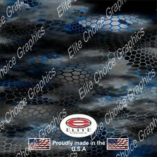 "Hex 2 Blue CAMO DECAL 3M WRAP VINYL 52""x15"" TRUCK PRINT REAL CAMOUFLAGE"