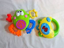 Baby Development Toys Lot of 2 Happy Kid Tambourine and Fisher Price Frog 2011