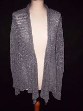 beautiful blue loose knit OSKA pierced sleeve detail cardigan 12