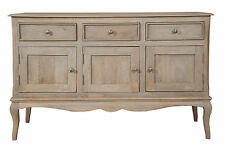 Loire French Grey/3 Door 3 Drawer Sideboard Fully Assembled