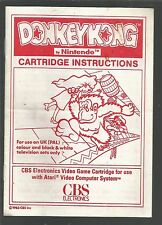 Manual/Instructions only - DONKEY KONG - for Atari VCS 2600 - MANUAL ONLY