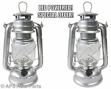 2 x 15 LED HURRICANE LANTERN WITH DIMMER LAMP FISHING TORCH TENT LIGHT OUTDOOR