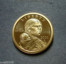 """2000-S GEM PROOF SACAGAWEA GOLDEN DOLLAR DEEP CAMEO """"FIRST YEAR ISSUE"""""""