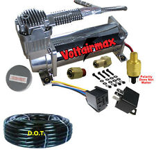 Single VoltAir 400/444C Air Compressor Ride Kit 200psi Off Switch & Relay Inc