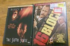 Lot of 2 Bruce Willis Dvds Movies The Sixth Sense & 16 Blocks  Brand New Sealed