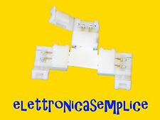 "connettore giunto striscia led a ""T"" 5050 2 pin 10mm (30SP)"