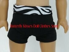 Yoga Shorts Black Zebra Print Doll Clothes Made For 18 in American Girl Dolls