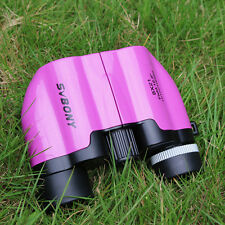 Kids Pink 8x21 Binoculars Telescope Multi Coated Lens for Christmas Gifts+track