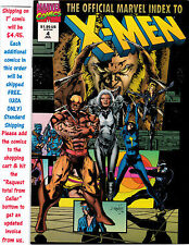 OFFICIAL MARVEL INDEX TO THE X-MEN COMIC #4 VF UNREAD #40074 BR3