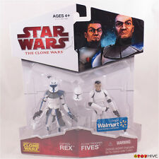 Star Wars The animated Clone Wars 2009 Captain Rex & Clone Trooper Fives - worn
