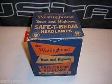 1940 1950 VINTAGE WESTINGHOUSE TOWN AND HIGHWAY SAFE T BEAM 6V HEADLAMP #6006