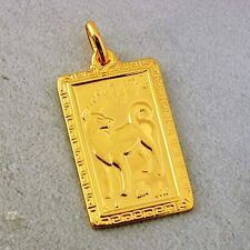 Womens Mens Monkey Pendant Fit Long necklace Yellow Gold Filled Chinese Blessing