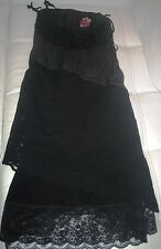 VDP Via delle Perle ABITO VESTITO lungo pizzo lana Robe Kleid wool/lace Dress