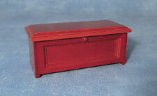 1:12 Opening Wooden Blanket Chest Trunk Box Dolls House Miniature Accessory 198