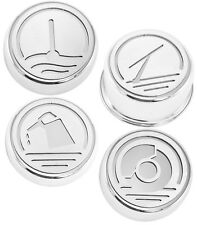 2010-2012 Mustang Automatic Trans Chrome Executive Series Fluid Cap Covers 4 pc
