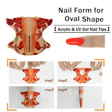 100pcs/roll Oval Shape Adhesive Nail Form Acrylic Tips Extension Manicure Tool