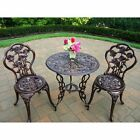 3 Piece Patio Furniture Iron Bistro Chairs Table Heavy Duty Durable Patio New