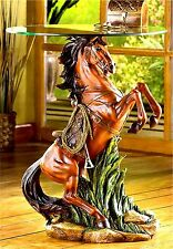 Stunning SCULPTED MAJESTIC STALLION HORSE ACCENT END SIDE OR NIGHT TABLE ** NIB