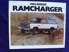 1983 DODGE RAM CHARGER SALES BROCHURE CHRYSLER CANADA