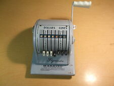Vintage Paymaster Series S-1000 Check Writer Machine with  Key *FREE SHIPPING*