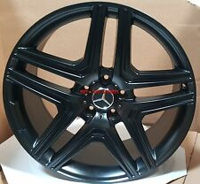 20 Mercedes Wheels G Wagon G55 G550 G500 AMG G63 Style Satin Black Rims 5x130 22
