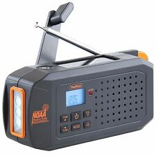 VonHaus Solar Dynamo AM/FM/NOAA Radio with 7 Weather Alert Channels,