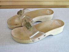 Dr.Scholl`s Original Nylon/Holz Sandal Pantolette Training Fußbett 37 Made Italy