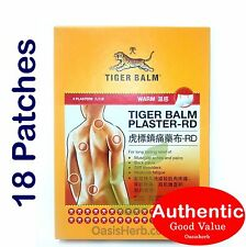18 patches (2pk X 9patches) Tiger Balm Plaster - RD Warm - 10cm x 14cm (New! )