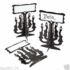 24 HALLOWEEN Party Table Decorations Paper CANDLEABRA Shaped PLACE CARDS